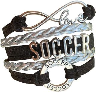 Soccer Gifts, Soccer Bracelet, Soccer Jewelry, Adjustable...