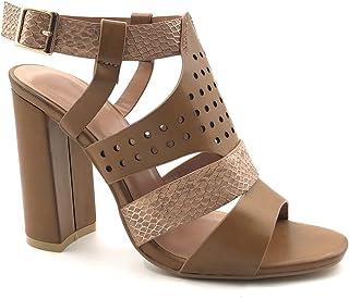 94996f1733a1ab Angkorly - Chaussure Mode Sandale Escarpin Ouverte Hauts Talons Glam Rock  Femme imprimé Serpent Python perforé
