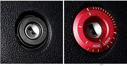 muchkey Anillo protector decorativo para contacto del coche, accesorio moderno, cubierta de recambio