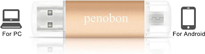 penobon OTG Pen Drive 32GB USB Flash Drives … (32GB, Gold)