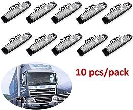 camion Keenso Lot de 10 feux de position lat/éraux 6 LED 24 V pour camion caravane camionnette