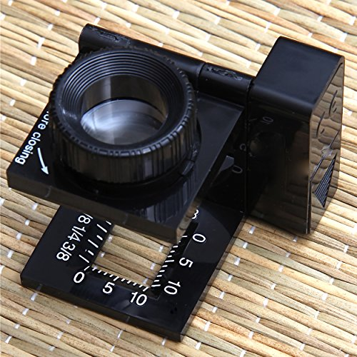 Carson LinenTest Lupa Cuentahílos Enfocable con Luz LED y Lente de 15mm con Aumento de 11.5x