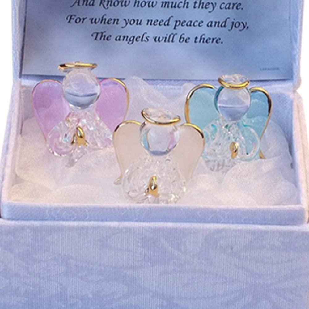 Angels Worry Box Gold Gilded Figurines A Personalised Ornamental Box of Mindfulness for your Loved Ones and a Spiritual Verse Inside the Lid with Little Angel Wings 1 White Angel Blessing Box