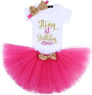 First Birthday Outit for Baby Girl Princess Cake Smash Photography Shoot 3PCS Set