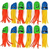 com-four 12x Tauchspielzeug als Qualle, Tauch-Set zum Tauchen Lernen für Kinder (12 Stück -...
