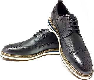 Men's Premium Leather Oxford Dress Shoe| Comfortable Insole | Wingtip | Lace Up | Rubber Sole