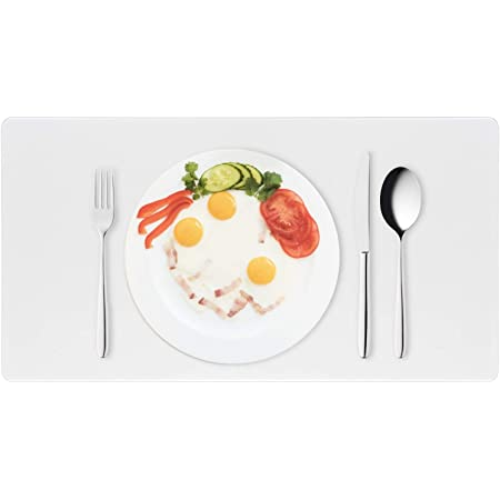 KSHG Plastic Clear Placemat Vinyl Desk Mat Protector 12/×24in 1.5mm Thick Set of 2 Durable Heat Resistant Dining or Kitchen Table Mat