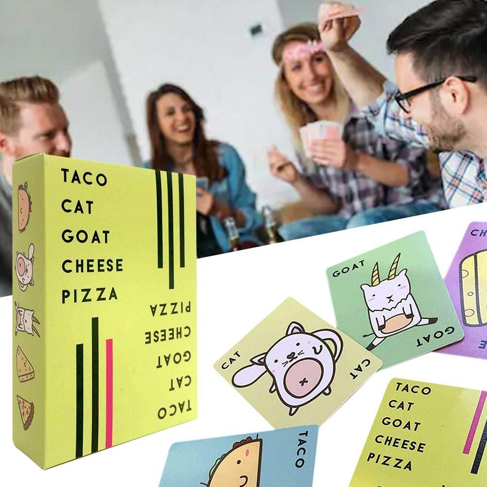Generp Taco Cat – Tarjeta de Juego para Pizza, Juego de Mesa Familiar para Festivales, ferias y Fiestas de cumpleaños: Amazon.es: Juguetes y juegos