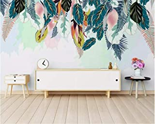 Wallpaper Customized wallpaper minimalist small fresh green leaves watercolor style wallpapers home cor wallpaper-200X140CM