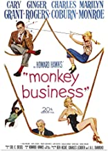 GREATBIGCANVAS Poster Print Monkey Business - Vintage Movie Poster by 12