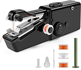 Handheld Sewing Machine, Mini Portable Electric Sewing Machine for Beginners, Home DIY and Travel, Quick Handy Repairing Stitch Tool for Fabric, Clothing, Kids Cloth, Black