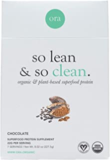 Ora Organic Plant-Based Protein Powder - So Lean and So Clean Chocolate (7 Sachets))