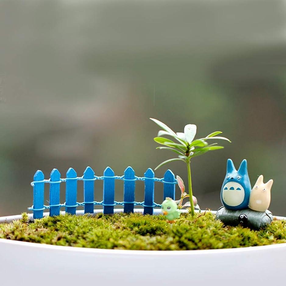 ラジカルバング人質Garden supplies 10 PCSミニ小さなフェンスバリア木製クラフト木製の小さなフェンスモスマイクロ景観装飾品、ランダムな色配達