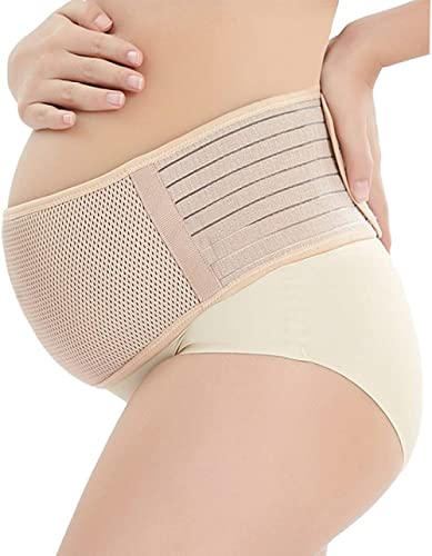 Maternity Belt, Belly Band for Pregnancy, Breathable Comfortable Back and Pelvic Postpartum Support - Adjustable Bell...
