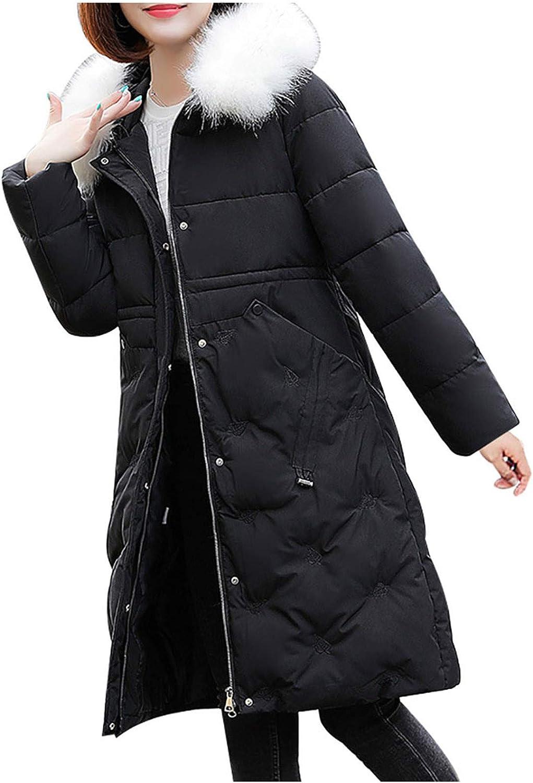 Sayhi Women Zipper Thicken Warm Long Fur Trimmed Overcoat Faux Max 41% OFF Ranking TOP8 H