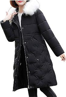 Cappotto Donna Giacca Invernale Cappotto Caldo Cappotto Sottile con Cerniera in Pelliccia Capispalla più Spessa