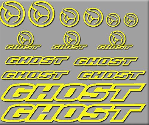 Ecoshirt 8R-A1PT-ZL47 Aufkleber Ghost Bici R207 Stickers Aufkleber Decals Autocollants Adesivi, Gelb