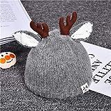 Xme Otoño e Invierno, cornamentas para bebés, Gorro navideño, Gorro de Punto para niños, Sombrero cálido para niños