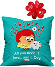 Indigifts Valentine Gift You Need Love Quote Blue Cushion Cover 12x12 inches with Filler - Valentine Gifts for Girlfriend, Gift for Girlfriend Birthday Special, Wife Gifts for Birthday
