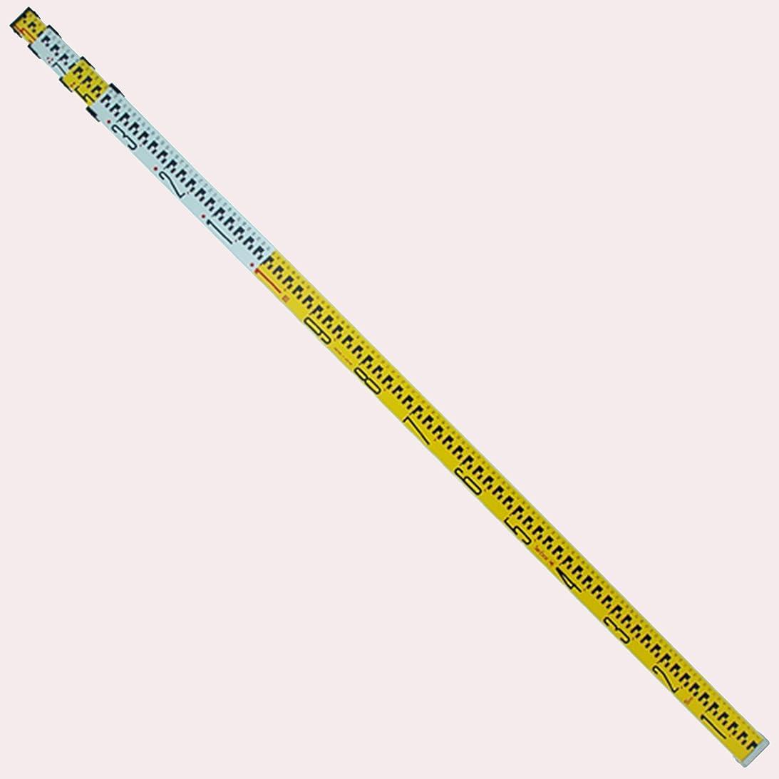 どきどきできない自己シンワ測定 アルミスタッフ アルミ合金製 5m 4段 76930