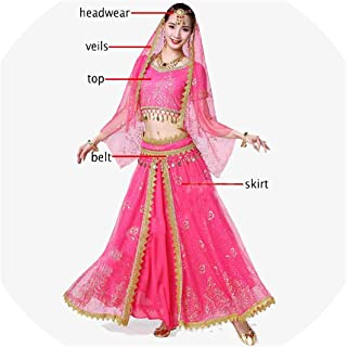 Belly Dance Costume Set Dance Outfit Bollywood Stage Skirt Bellydance