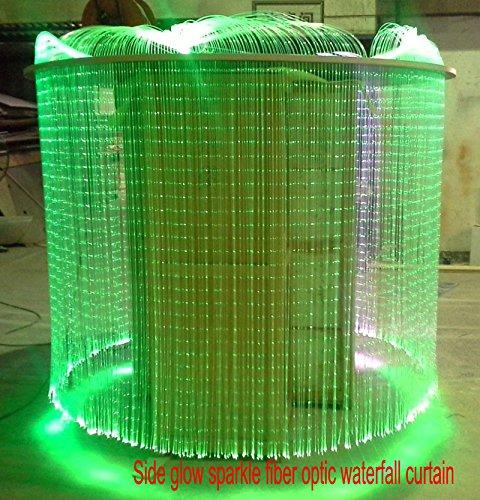 16W RGBW Fiber Optic Curtain Light Kit + 28Key Remote,Flash Point Waterfall Effect Home Window Decorative Lamp 0.04in/1mm 6.5ft/2m 300pcs