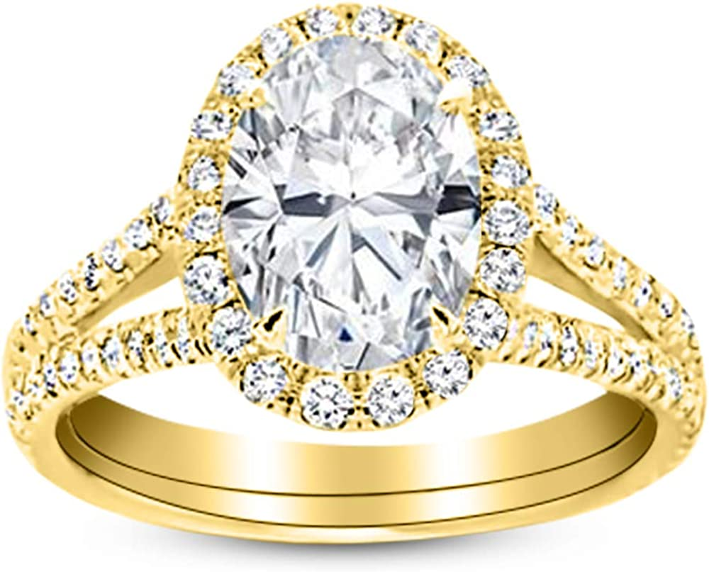 2 Max 45% OFF Credence Ctw 14K White Gold Single Certified GIA Oval Cut Classic Halo