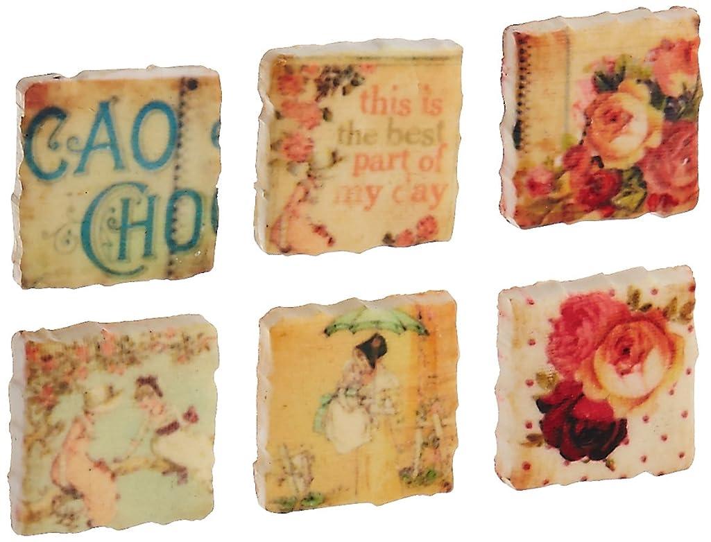 Prima Marketing Romantique Clay Art Tiles .75