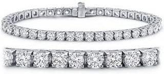 Houston Diamond District 2-20 Carat Classic Tennis Bracelet 14K White Gold Value Collection