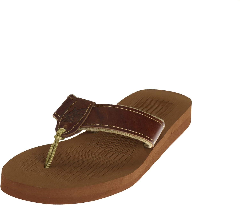Ocean Rider Men's Rubber Sandal Plain Strap | Non-Slip Rubber Sole | Made in The USA