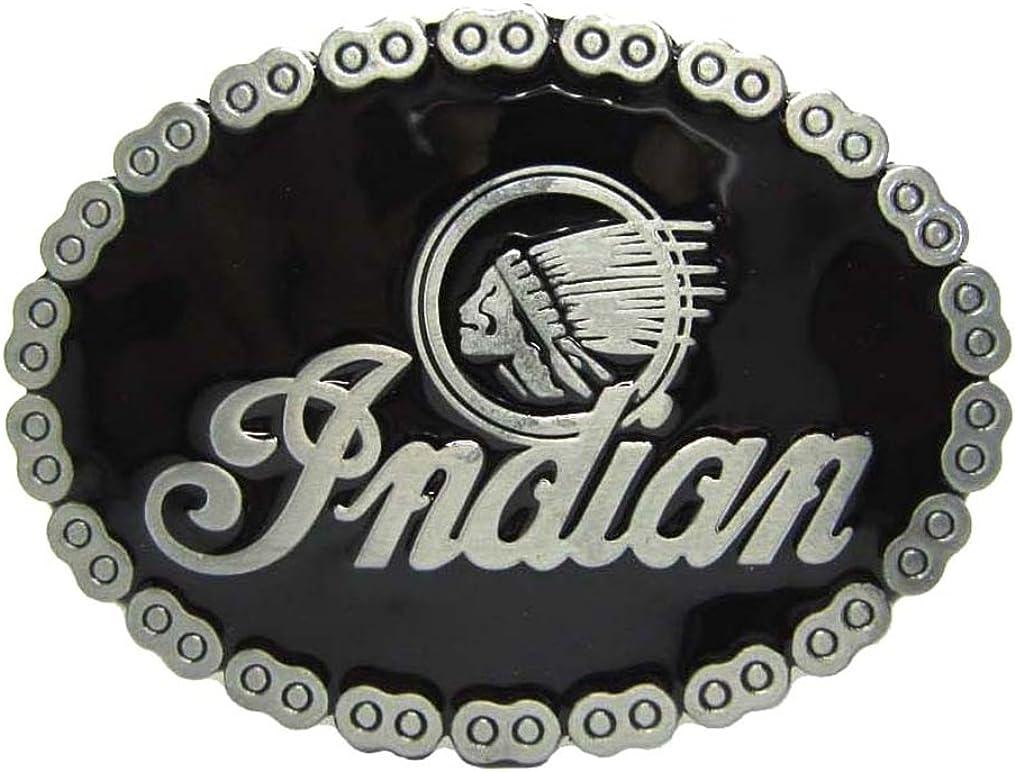 MASOP Native American Indian Warrior Chief Belt Buckle Casual Mens Belt Buckle Rings: Clothing