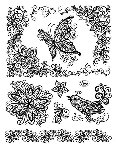 Viva Decor®️ Clear-Stamps (Schmetterling) Silikon Stempel - Prägung Stempel - DIY Dekoration stanzen - Stempel Silikon - DIY Stamp - Stempel Prägung - Made in Germany