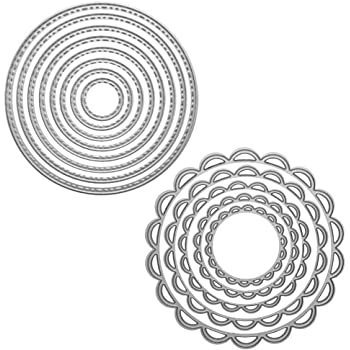 elements metal pathwork waves x 24quot home home.htm amazon com sizzix framelits die set 8 pk circles  scallop  sizzix framelits die set 8 pk circles