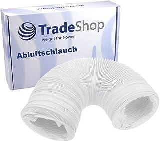 Trade-Shop Abluftrohr/Abluftschlauch/Entlüftungsschlauch für Hotpoint TVHM80CP Zanussi ZDC8203WZ White Knight C372WVBeko DTBC7001W