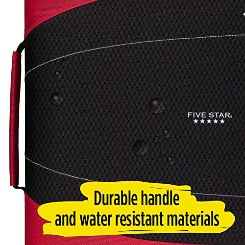 Five Star 2 Inch Zipper Binder, 3 Ring Binder, Removable File Folders, Durable, Red (73283) Photo #8