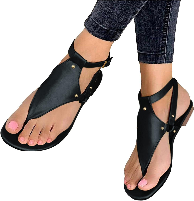 AODONG Flat Sandals for Women, Summer Women's Sandals Bohemian F