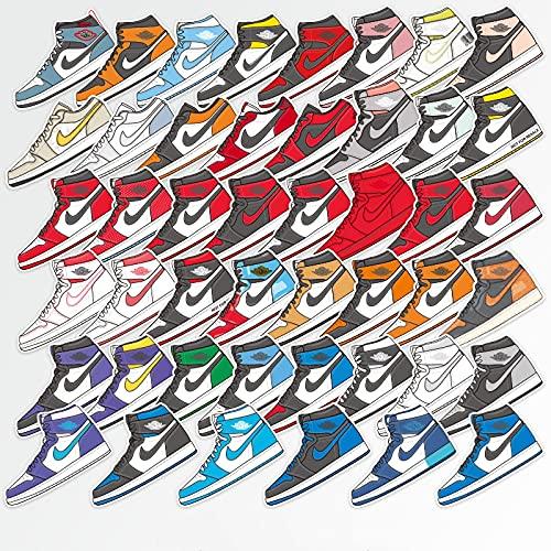 BUCUO Zapatos Jordan, Guitarra, Equipaje, Pintura, Personalidad, Marca de Moda, portátil, Maleta, monopatín, Pegatinas Impermeables, 46 Uds.