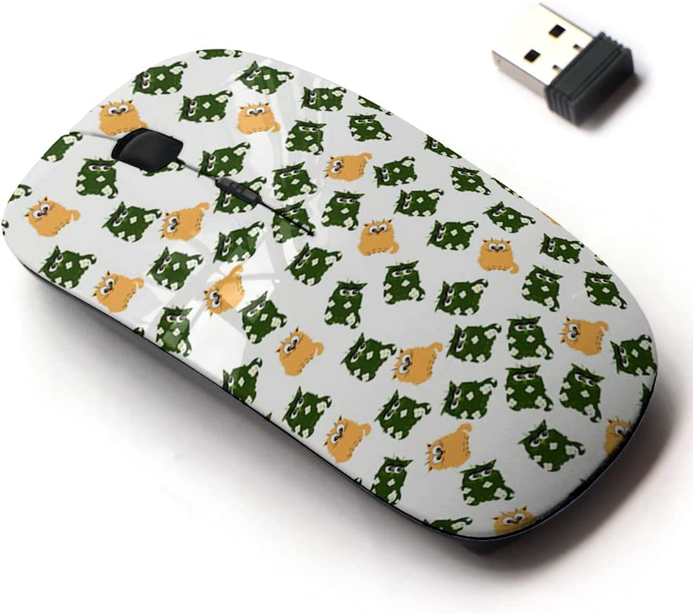 2.4G Wireless Mouse with Cute Pattern Laptops All Directly Arlington Mall managed store Design for and