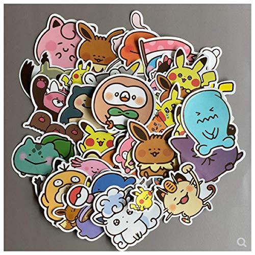DSSJ Lindo Suave Lindo Pikachu Pokemon Pokémon Maleta Maleta portátil Pegatina 38 Piezas