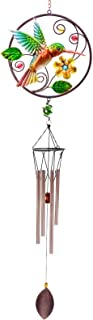 CREATIVE DESIGN Wind Chimes, 32''H Hummingbird Wind Chimes, Portable Metal..