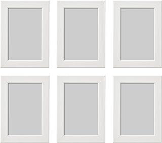 comprar comparacion Ikea Fiskbo - Marco de Fotos (10 x 15 cm, 6 Unidades), Color Blanco, Cartón, Tablero de Fibras, lámina de poliestireno, Pi...