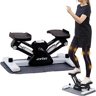 créer ステッパー サイドステッパー 踏み台昇降 脂肪燃焼 健康器具 【2021最新版改良型/créerオリジナル日本語説明書付き】マットは無料にて提供させていただきます