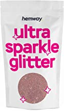 Hemway Rose Gold Premium Glitter Multi Purpose Dust Powder 100g / 3.5oz for use with Arts & Crafts Wine Glass Decoration Weddings Cards Flowers Cosmetic Face Eye Body Nails Skin Hair