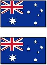 オーストラリア 連邦 国旗 フェイス シール 2枚入り <水転写タイプ>  ( 国旗 ペイント タトゥー シール )