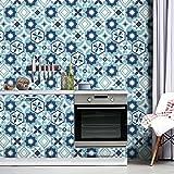 Adesivo esagonale vintage piastrellabile autoadesivo in PVC per soggiorno Adesivo decorati...