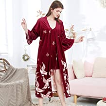 Dames Badjas Dames Lente Fluwelen Gewaad Bedrukt Nachtkleding Casual Kimono Badjas Sexy Bruid Bruidsmeisje Huiskleding