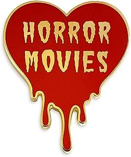 I Love Horror Movies Heart Enamel Lapel Pin