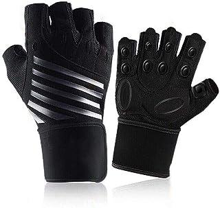 Gymhandskar, tungt tyngdlyftningshandskar med handledsstöd, andningsbara halkfria träningshandskar, heltäckande palmskydd ...