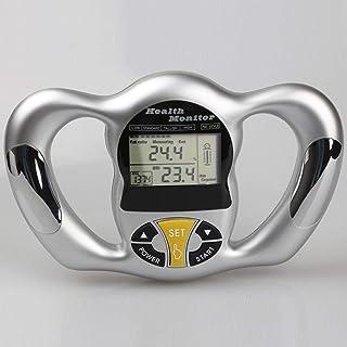 Báscula de grasa corporal inalámbrica digital LCD IMC peso de mano grasa corporal grasa grasa corporal agua herramienta de detección de masa muscular medidor de grasa analizador escala plata