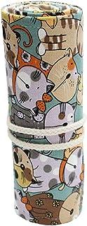 Guangcailun 12/24/36/48/72 Fori Fumetto Cortina Pencil Bag Wrap Bag Roll, Roll Up Wrap Up Gli Studenti della Tela di Canap...